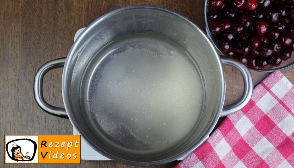 Eingemachte Kirschen Rezept Zubereitung Schritt 1