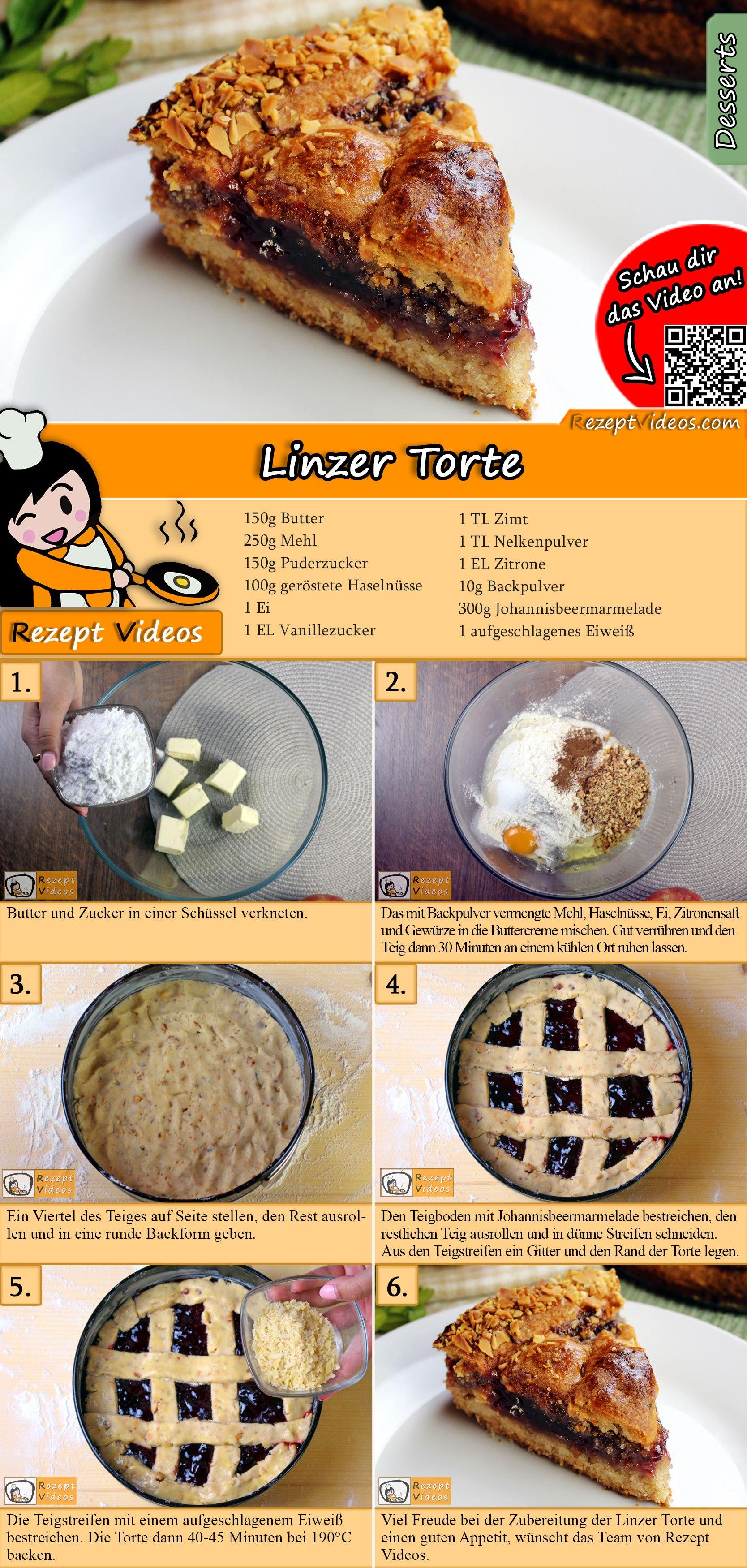 Linzer Torte Rezept mit Video