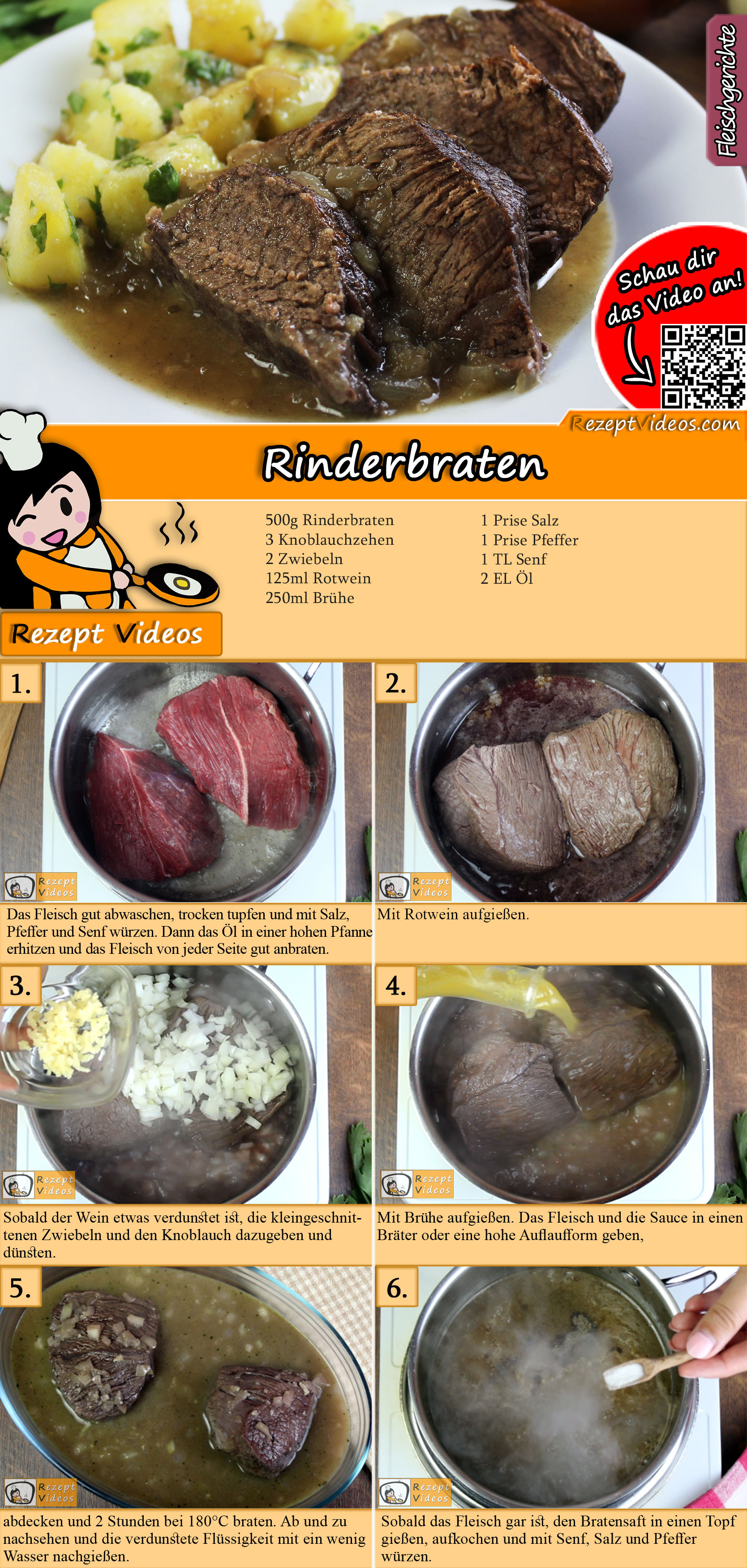 Rinderbraten Rezept mit Video