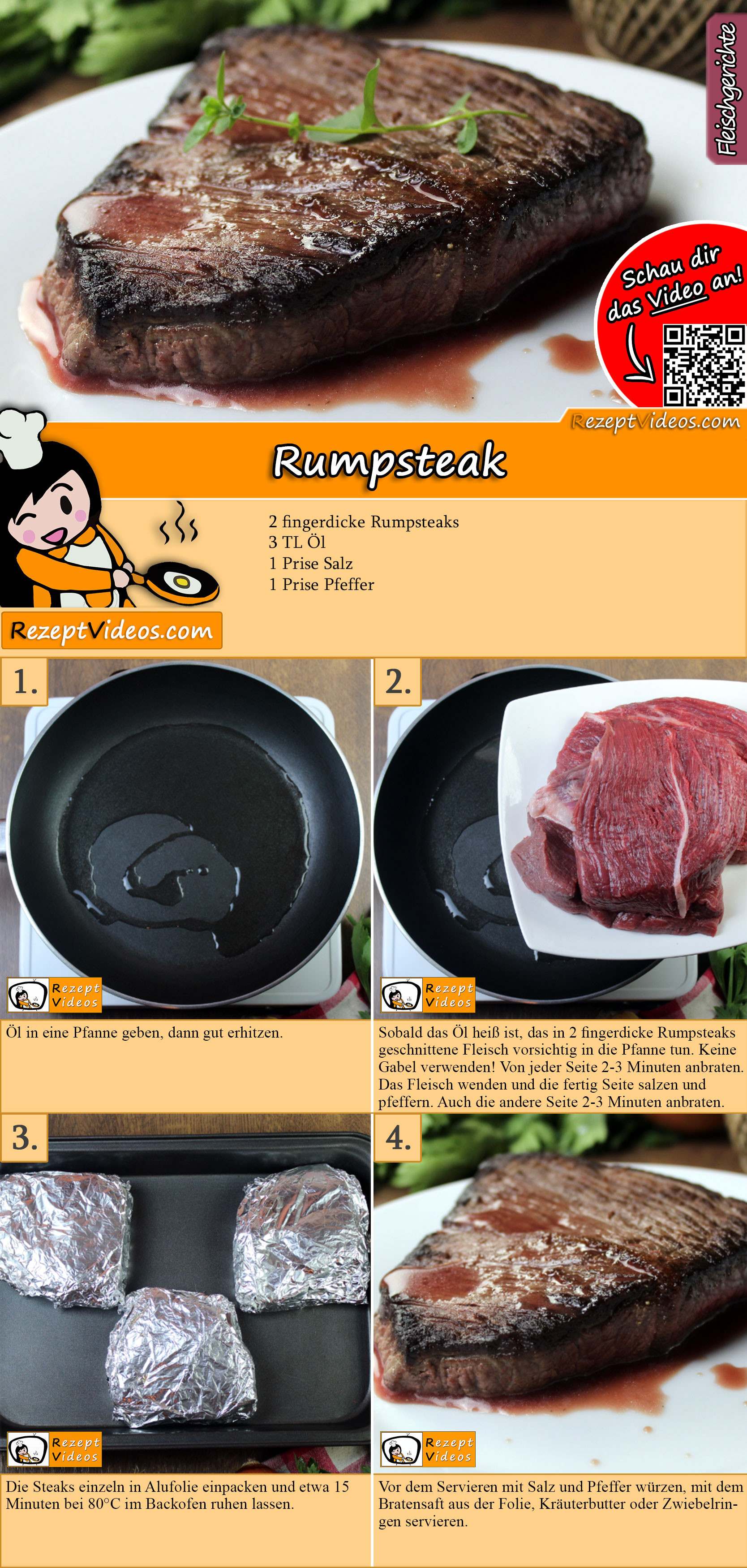Rumpsteak Rezept mit Video