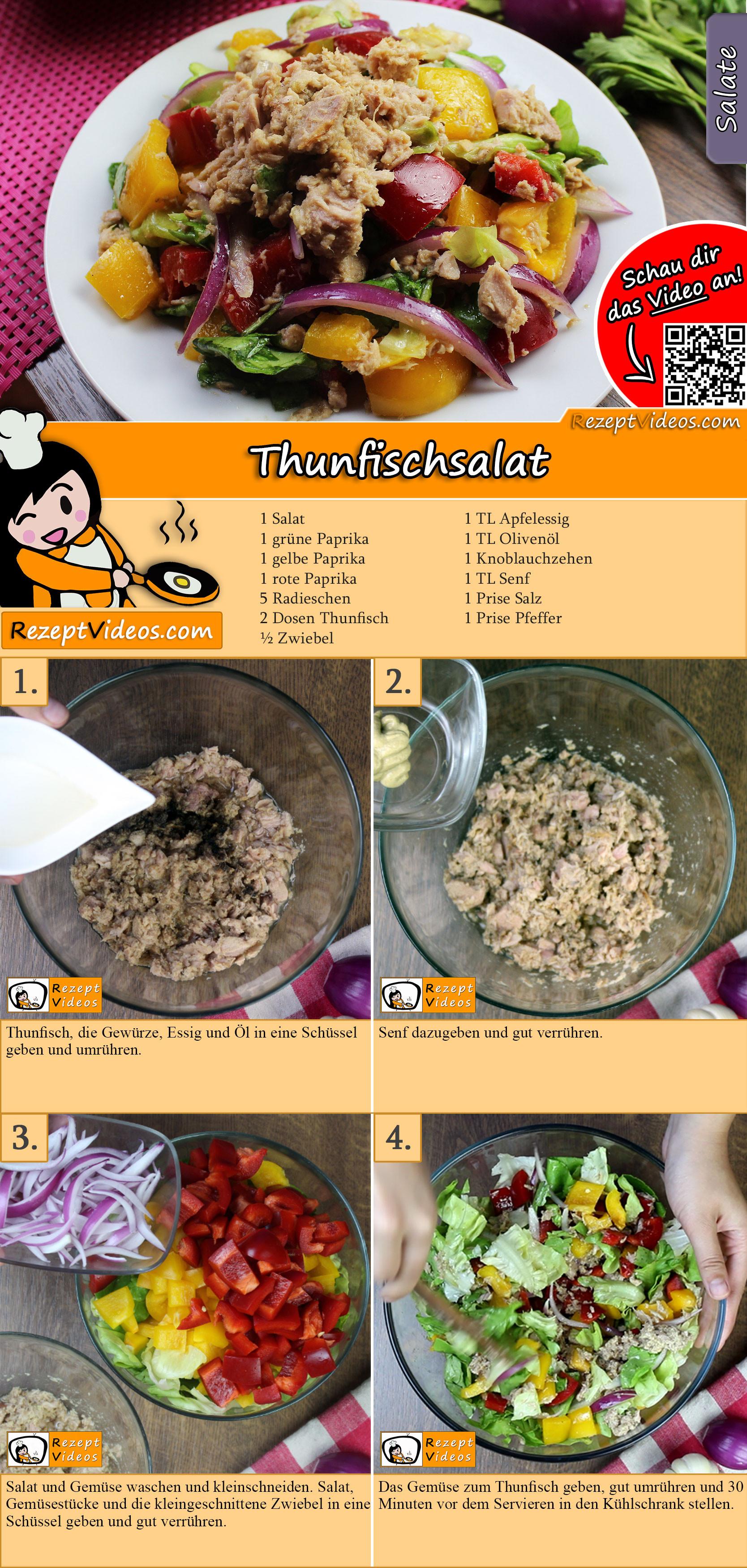 Thunfischsalat Rezept mit Video