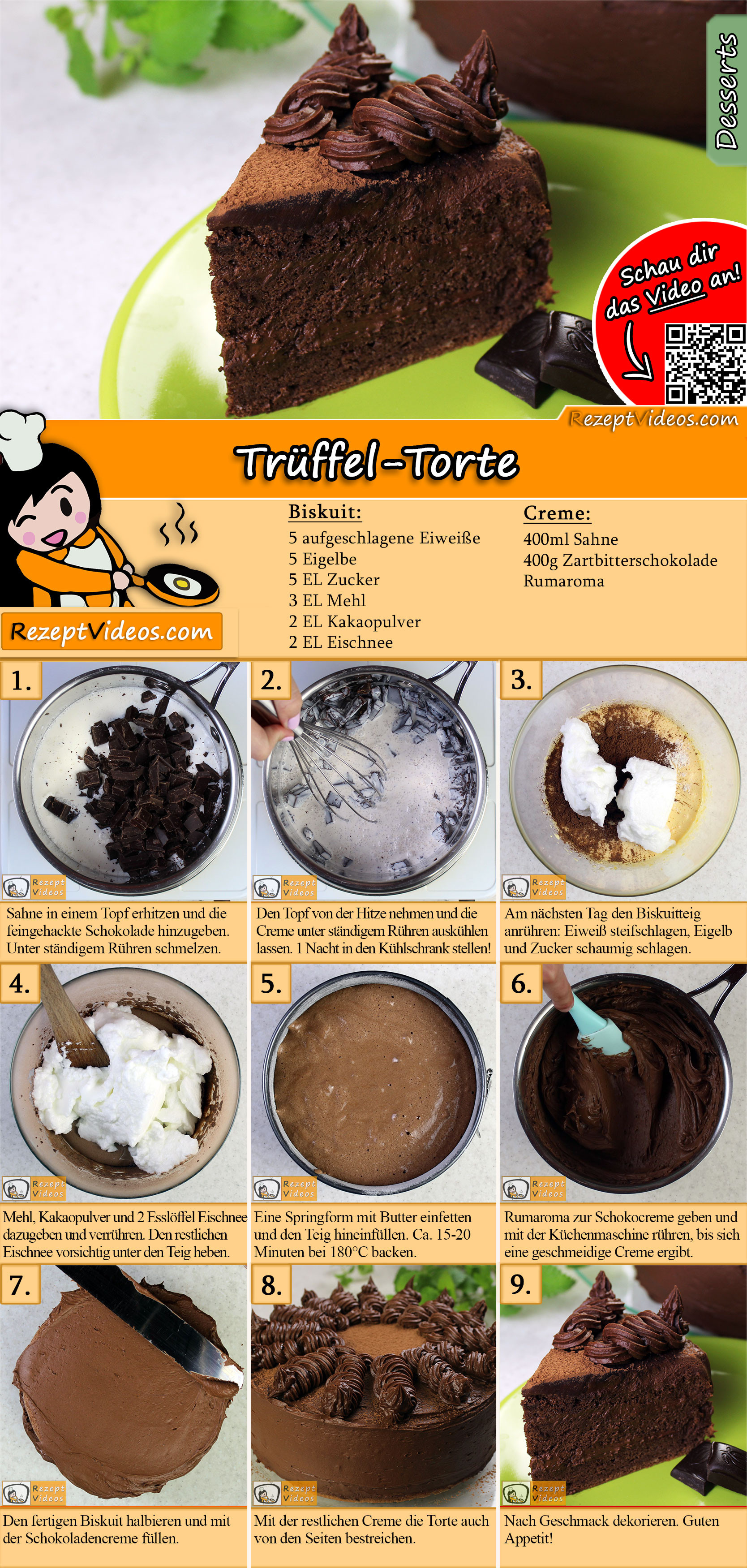 Truffel Torte Rezept Mit Video Torten Backen Leicht Gemacht