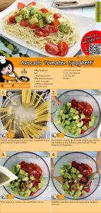 Avocado Tomaten Spaghetti Rezept mit Video