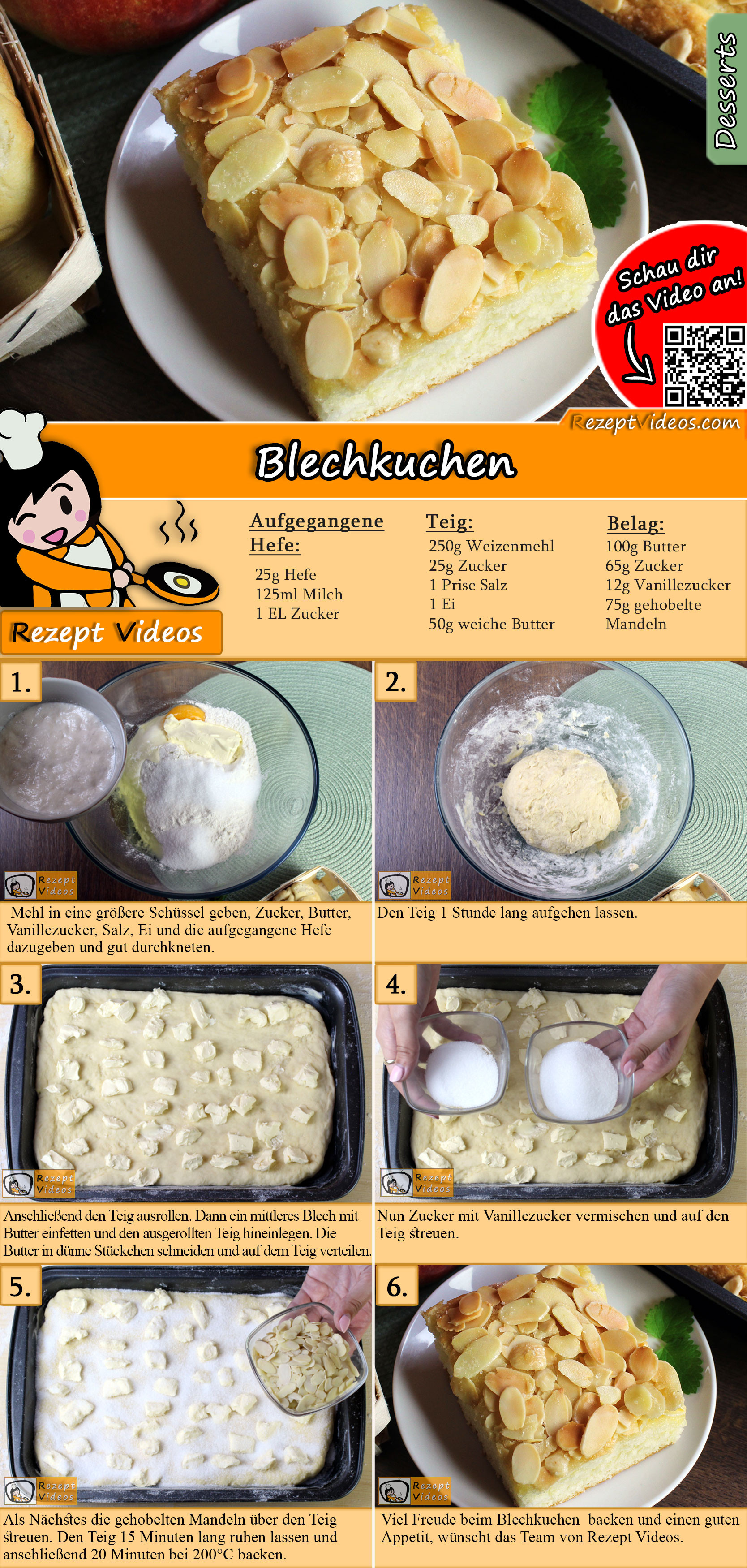 Blechkuchen Rezept mit Video