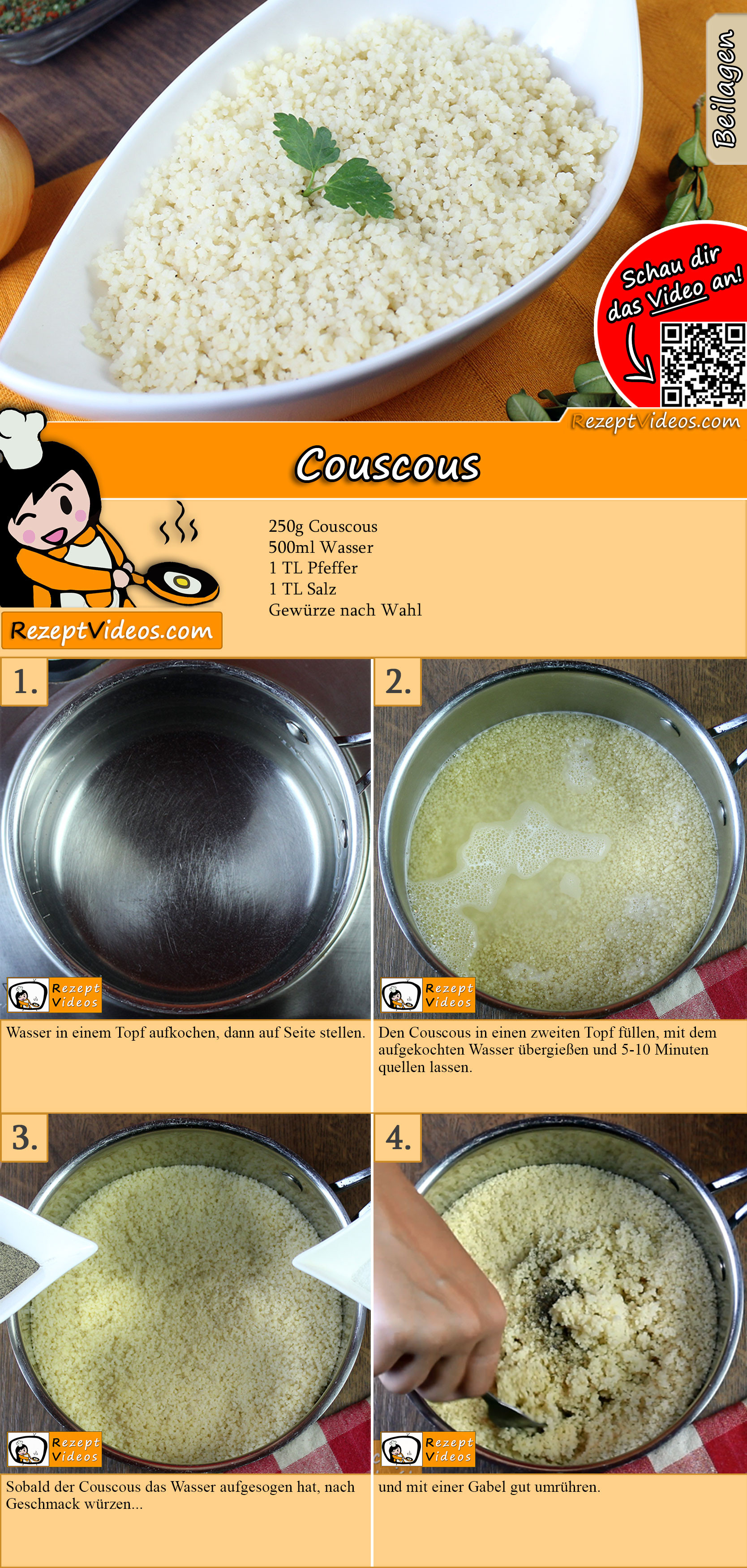 Couscous Rezept mit Video