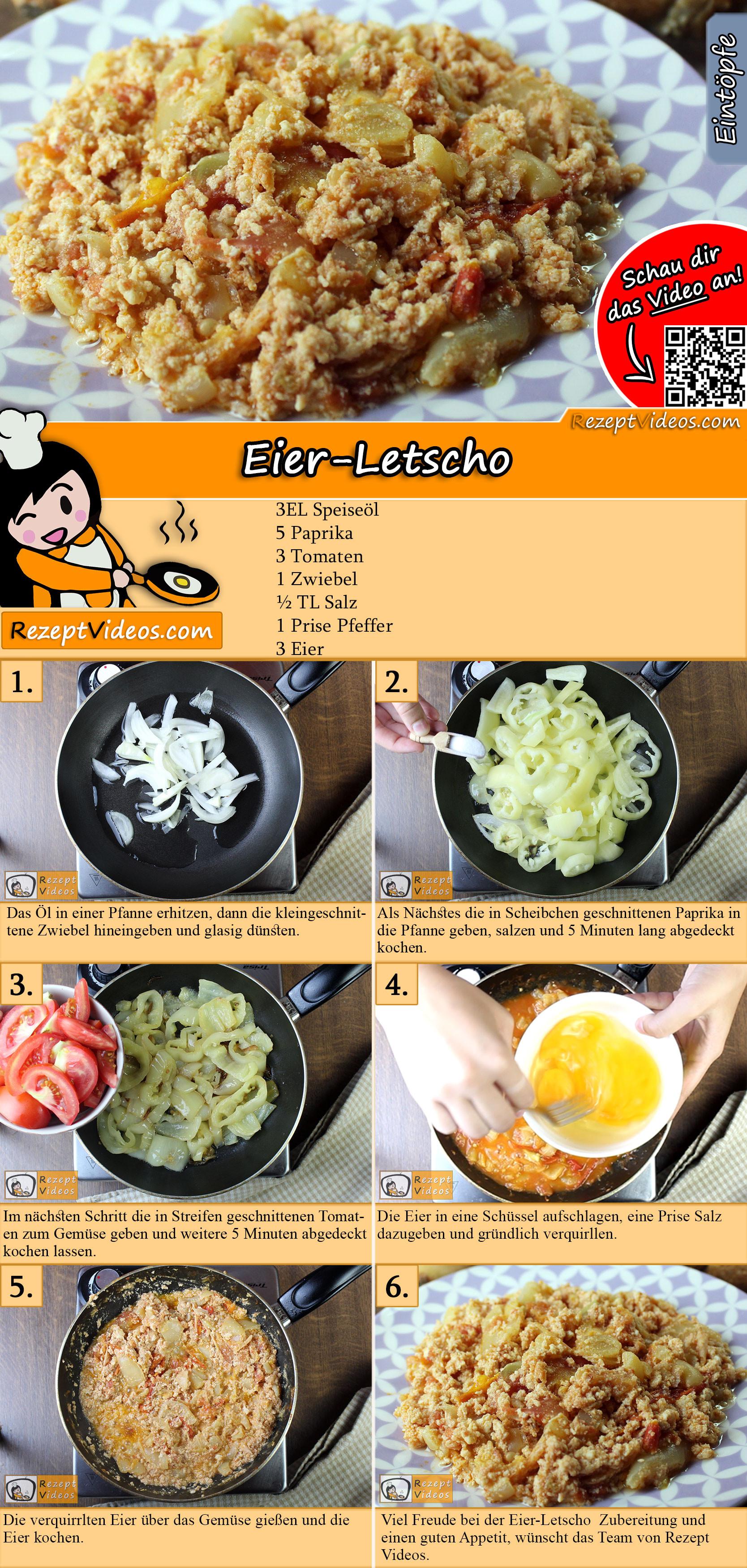 Eier-Letscho Rezept mit Video
