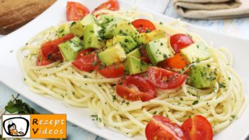 Avocado Tomaten Spaghetti