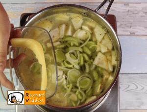 Nudelsuppe mit gebratenem Hähnchen Rezept - Zubereitung Schritt 3