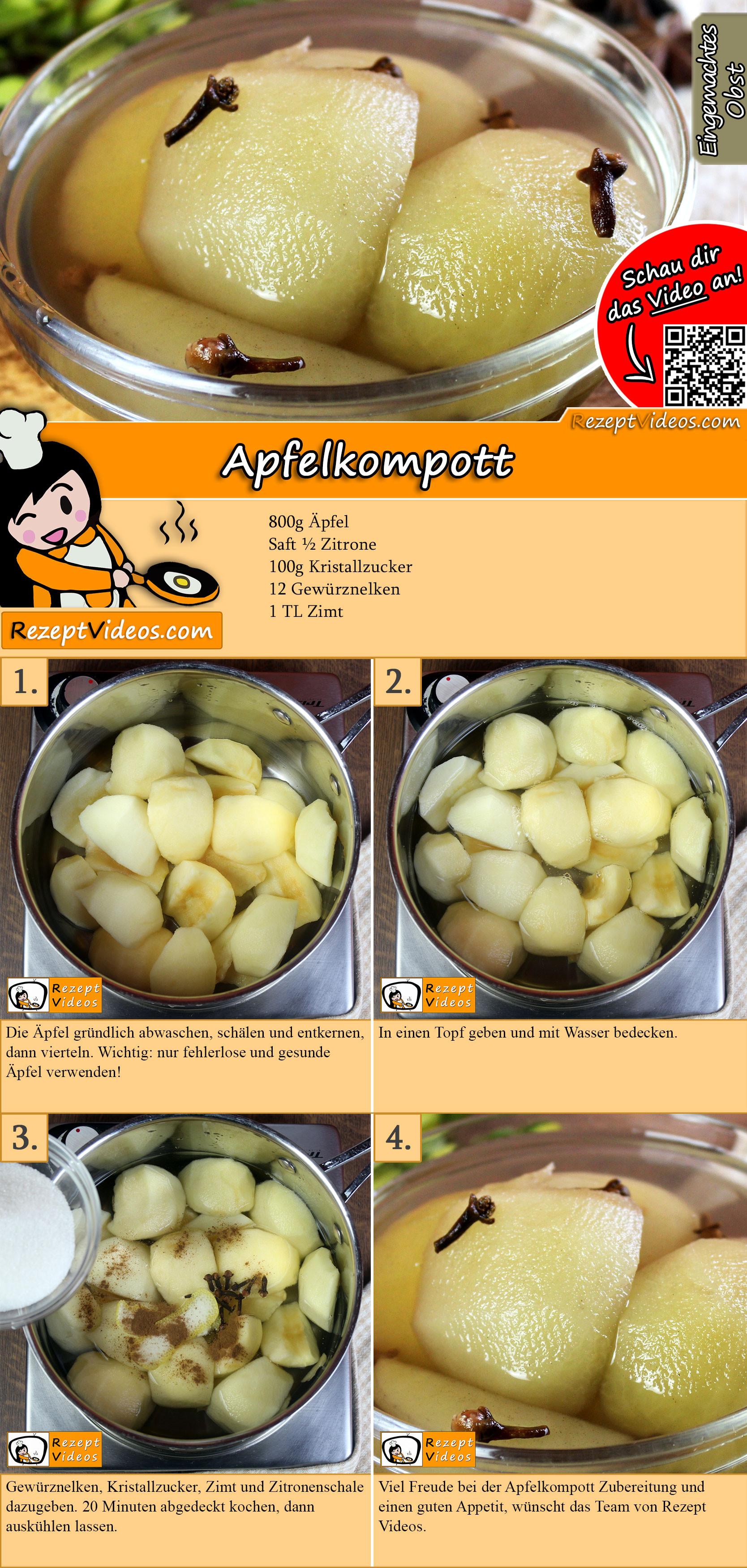 Apfelkompott Rezept mit Video