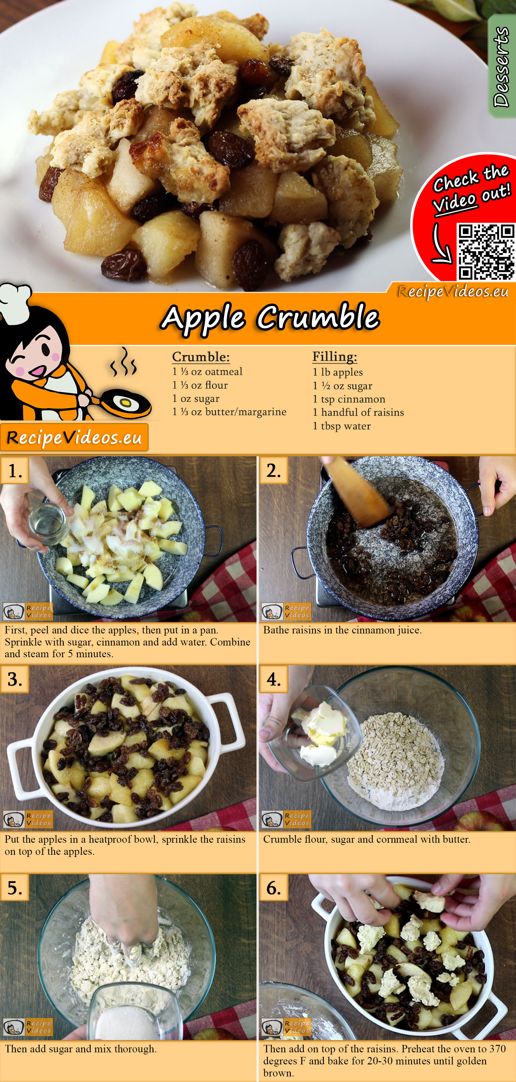 Apple Crumble Rezept mit Video