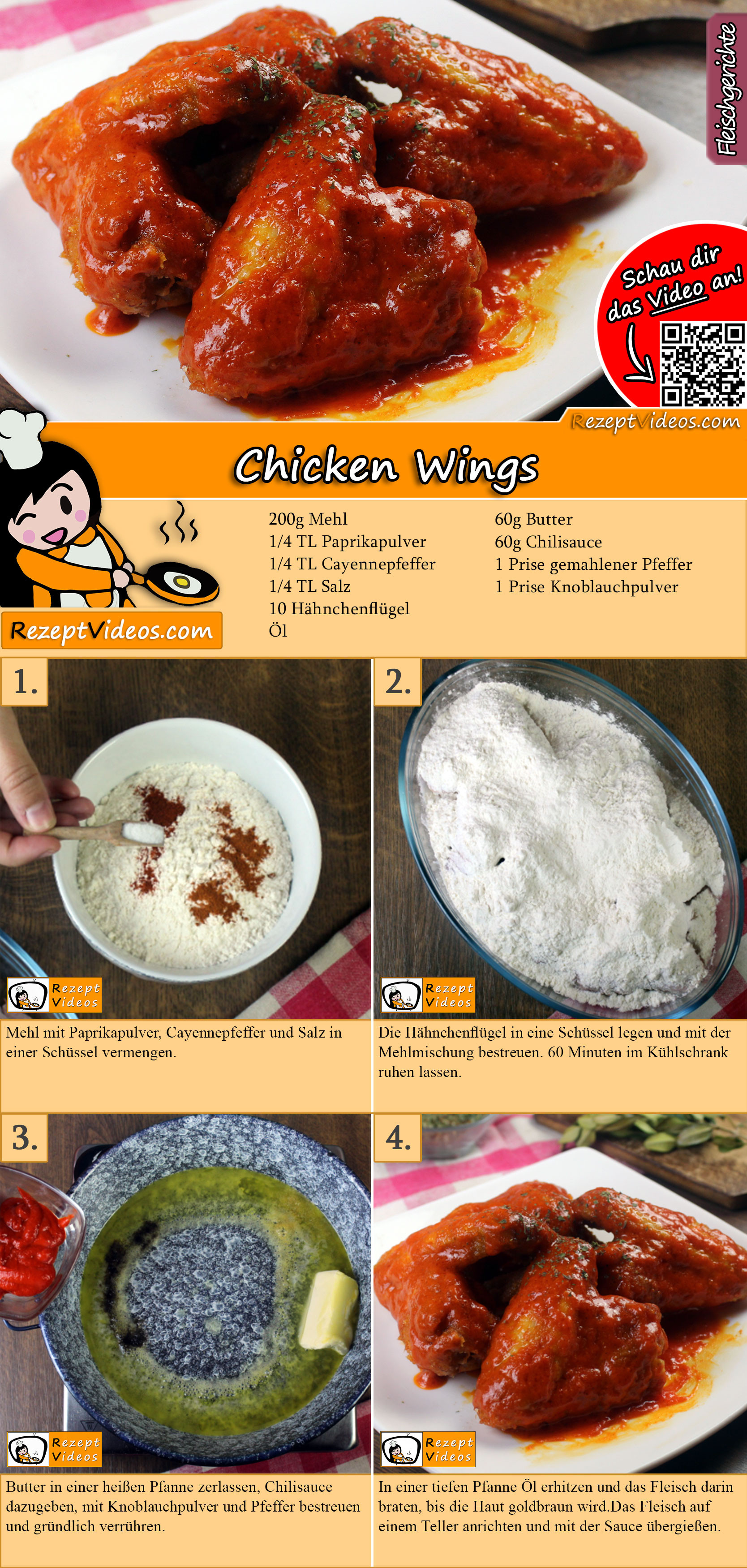 Chicken Wings Rezept mit Video