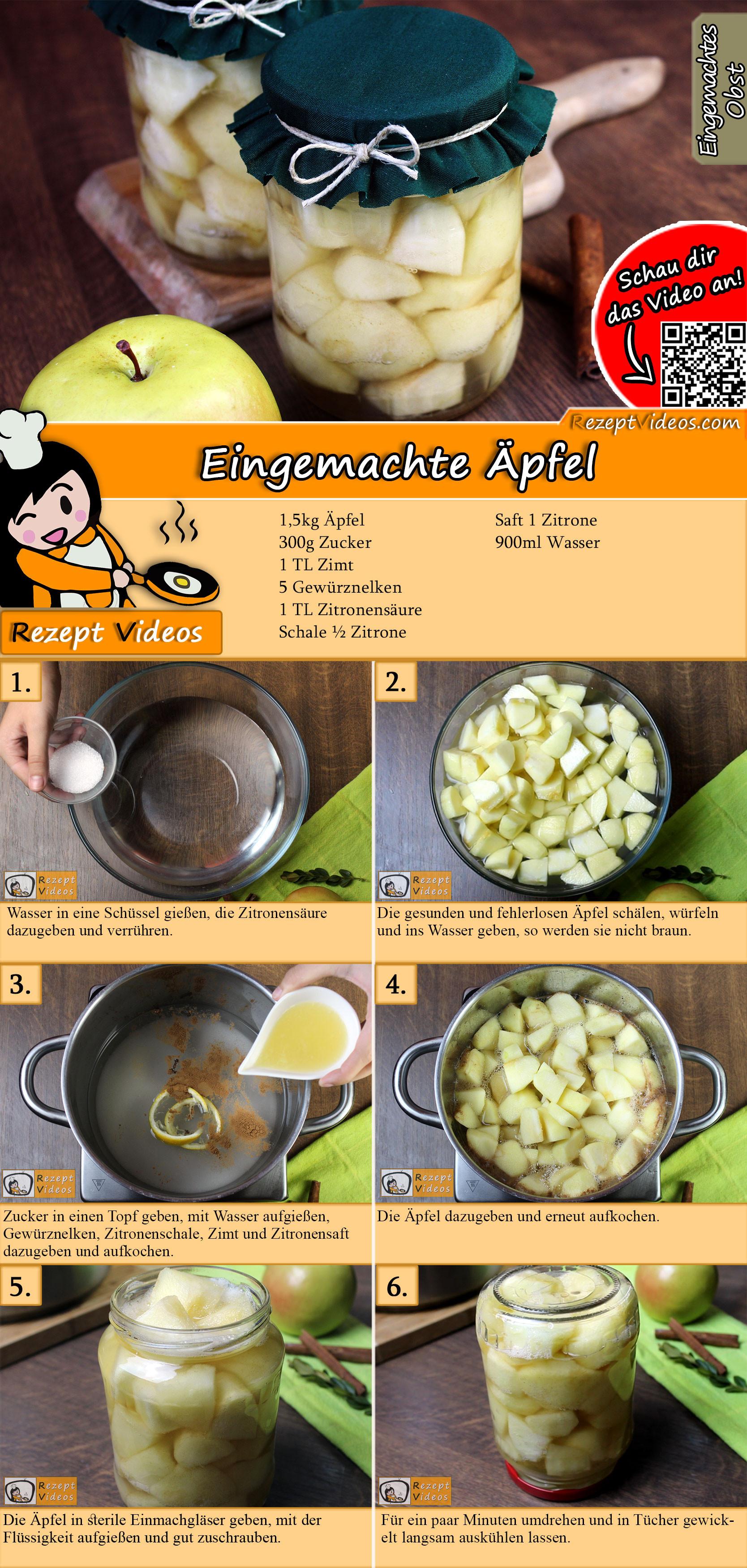 Eingemachte Äpfel Rezept mit Video