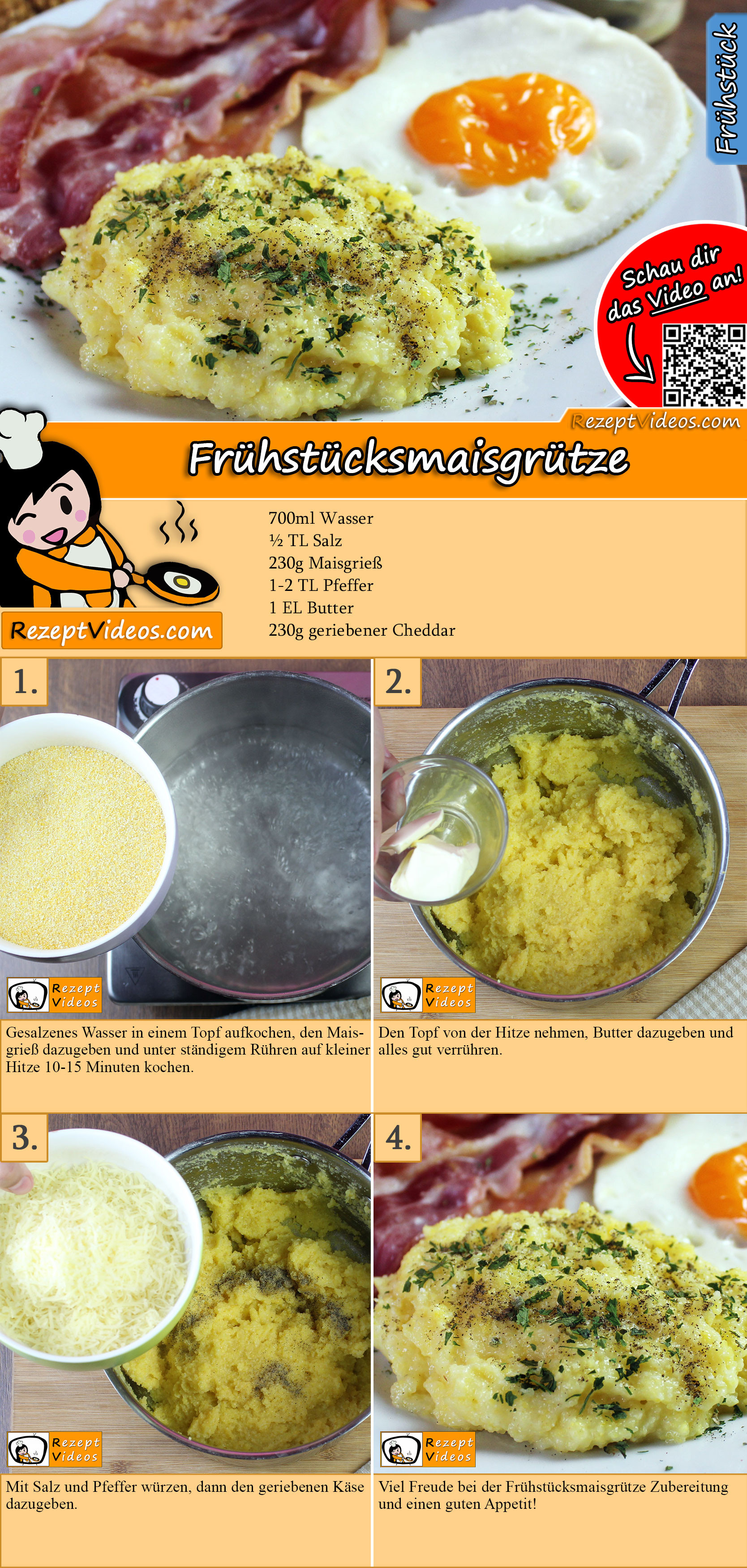 Frühstücksmaisgrütze Rezept mit Video