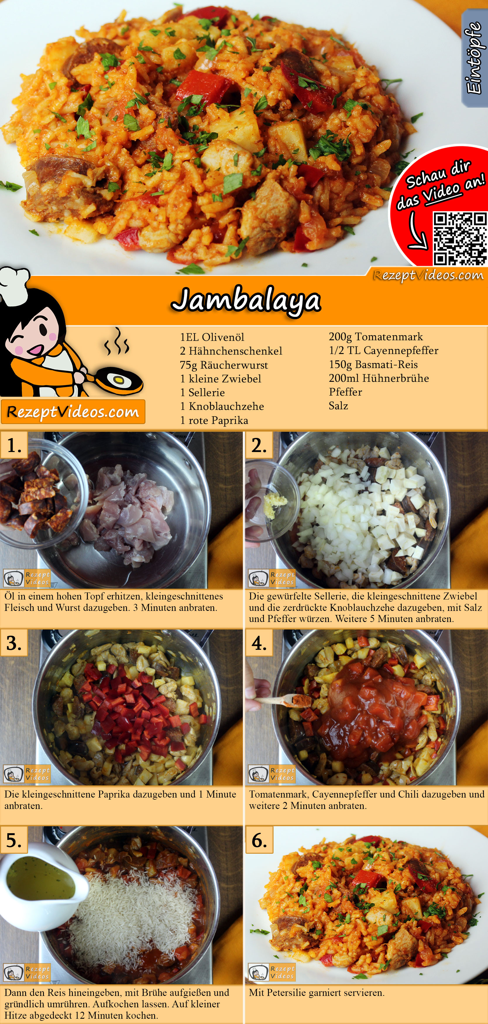 Jambalaya Rezept mit Video