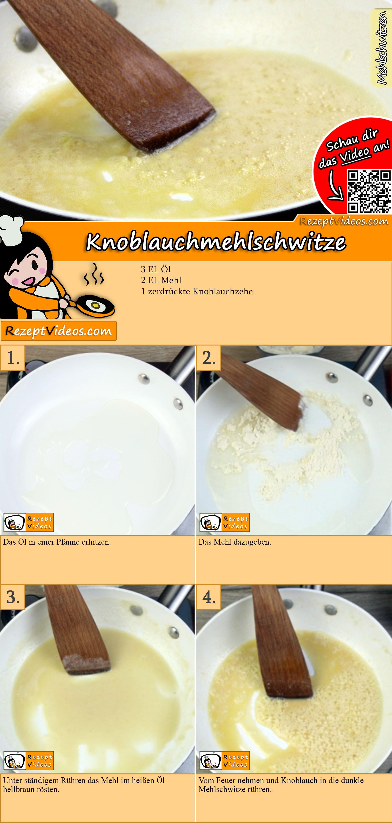 Knoblauchmehlschwitze Rezept mit Video