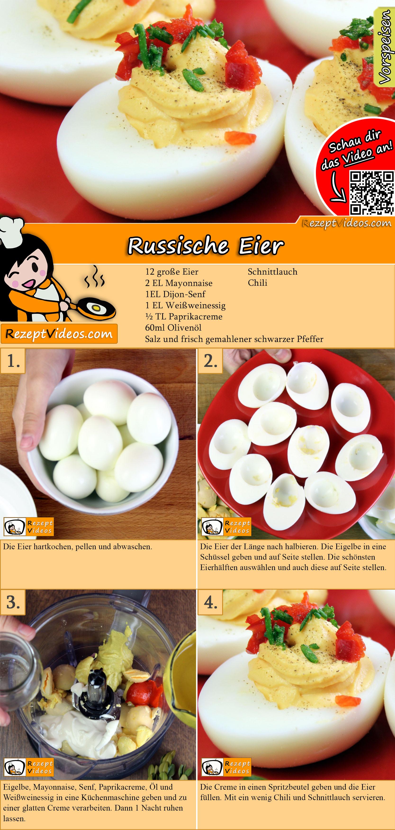 Russische Eier Rezept mit Video