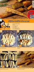 Süßkartoffel-Pommes Rezept mit Video