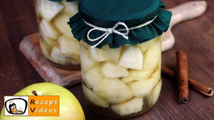 Eingemachte Äpfel