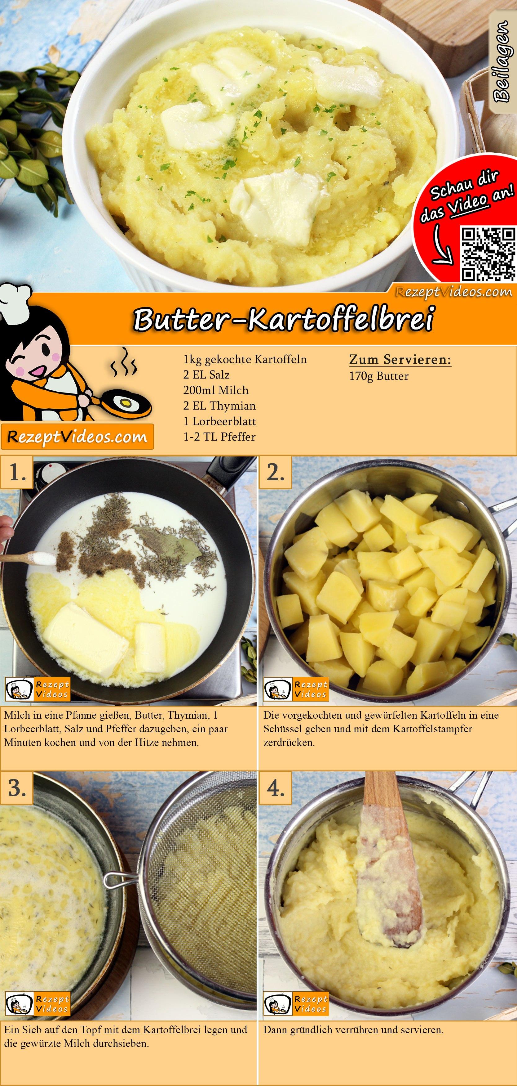 Butter-Kartoffelbrei Rezept mit Video
