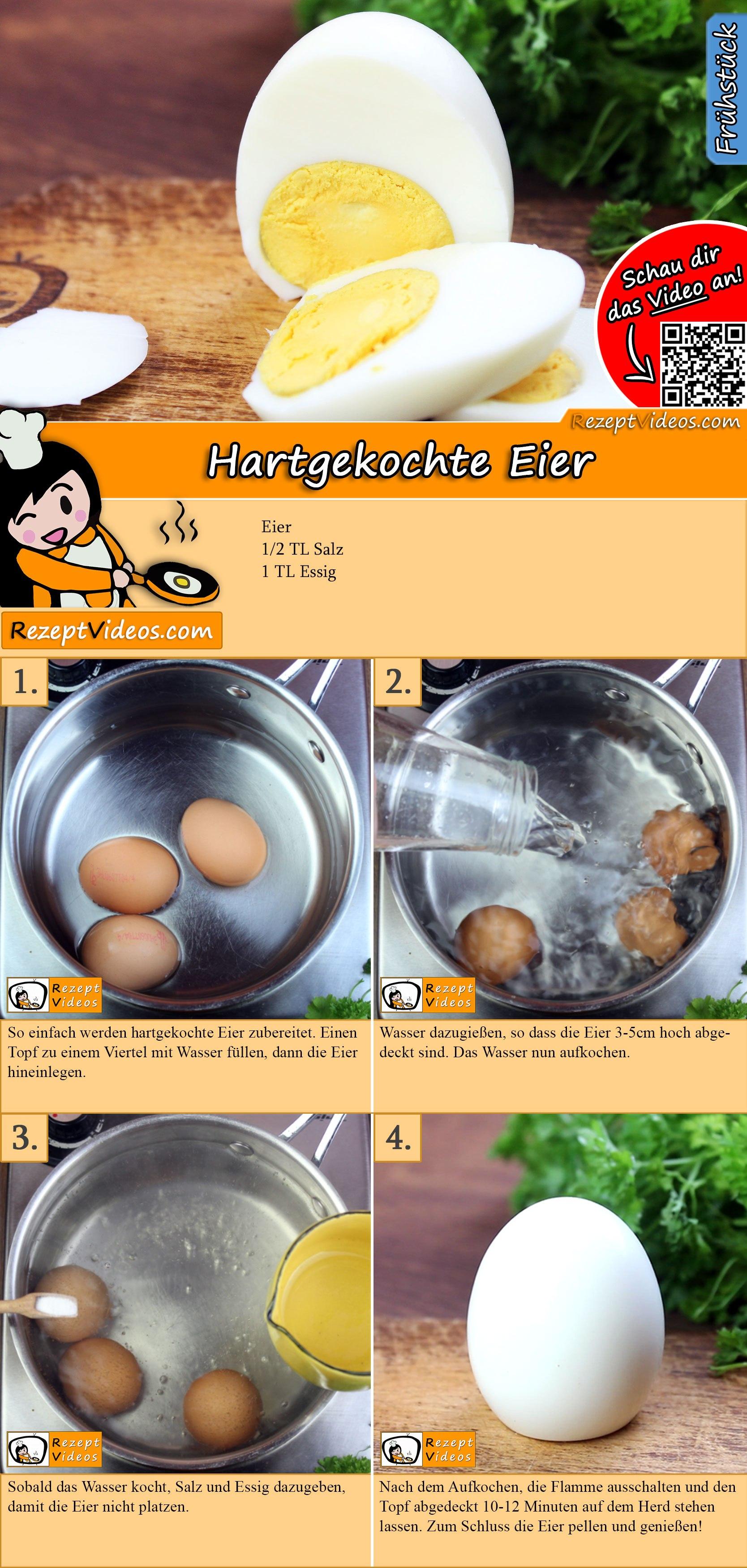 Hartgekochte Eier Rezept mit Video