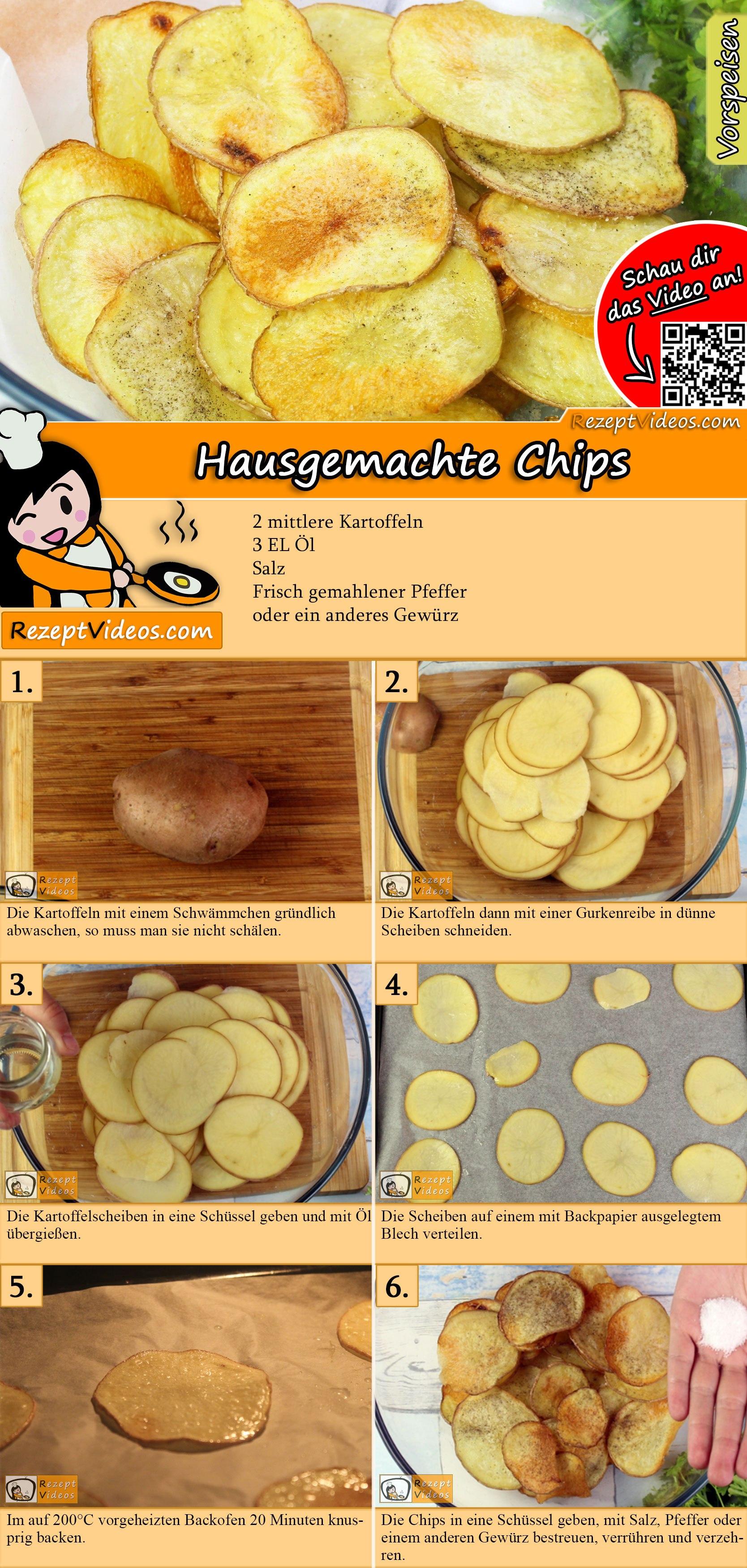 Hausgemachte Chips Rezept mit Video
