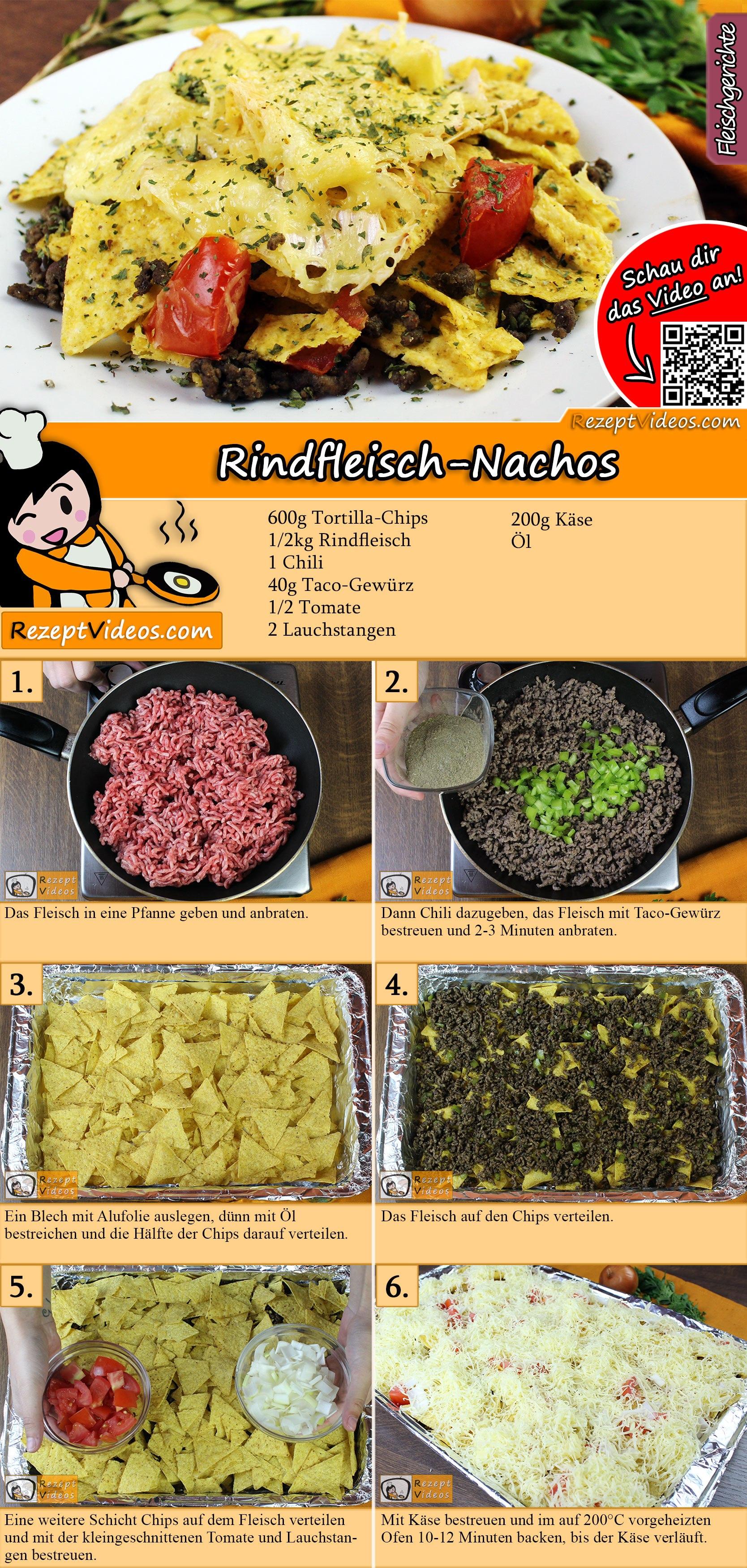 Rindfleisch-Nachos Rezept mit Video