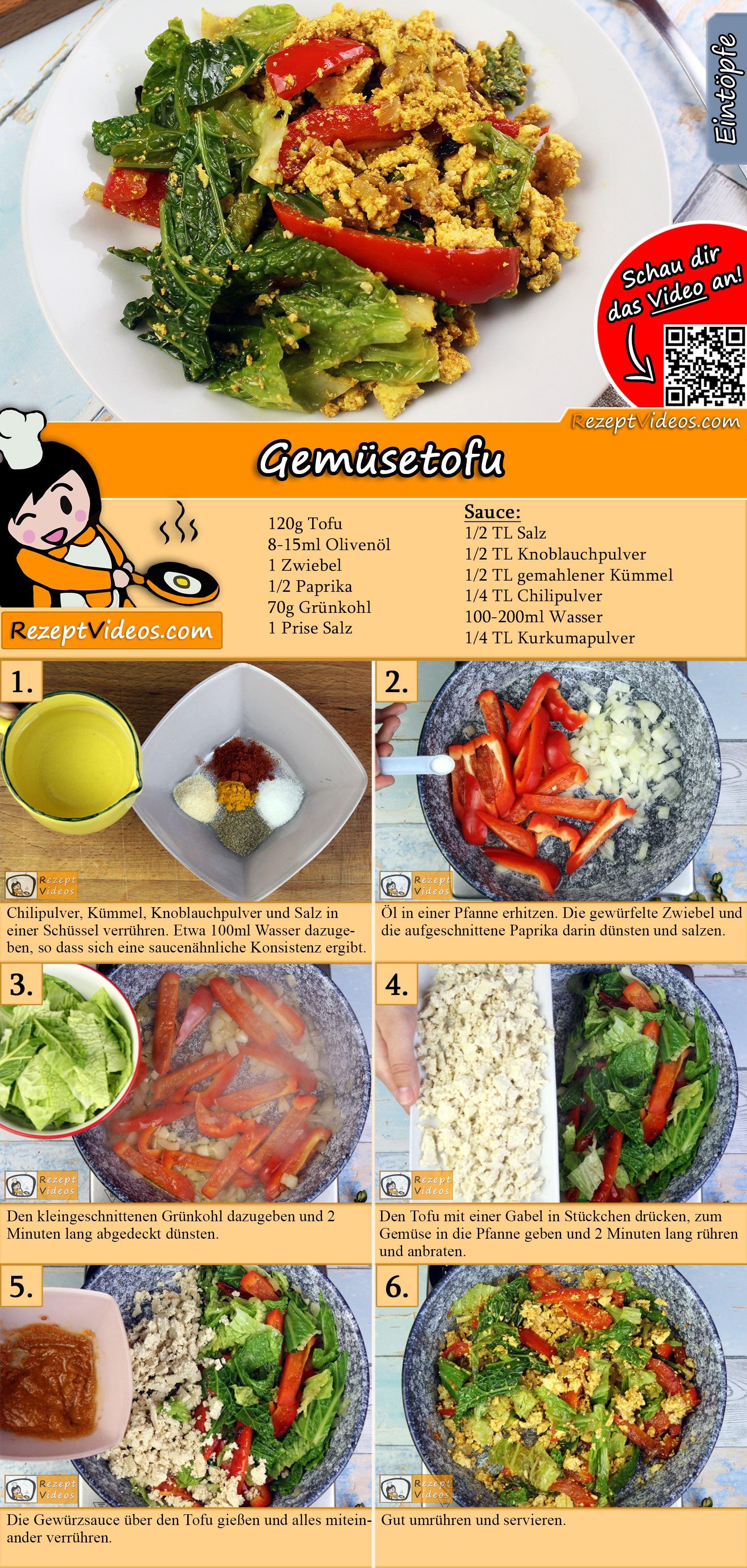 Gemüsetofu Rezept mit Video