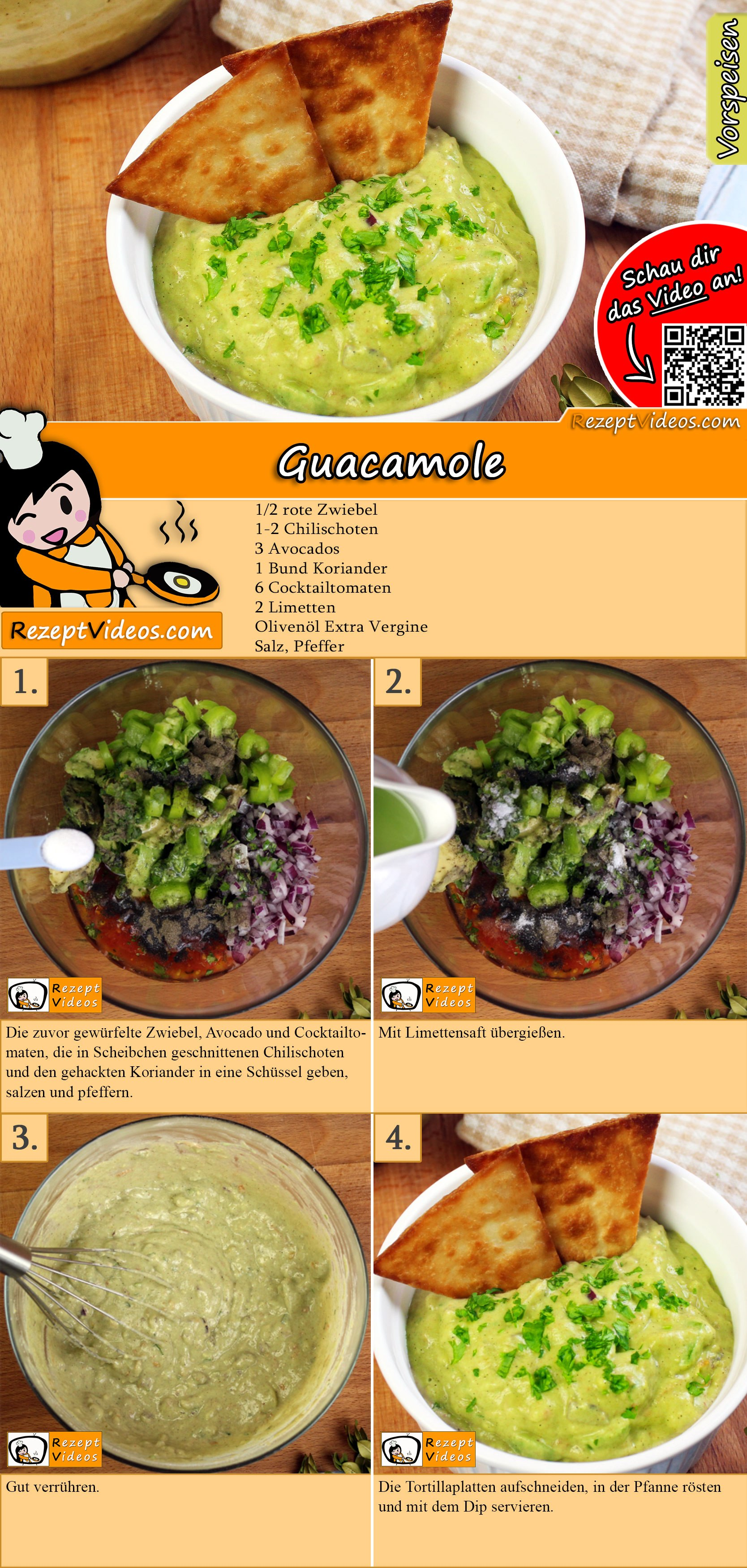 Guacamole Rezept mit Video