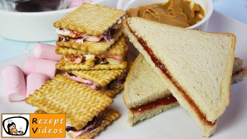 Erdnussbutter-Marmeladen-Sandwich und S´mores - Rezept Videos