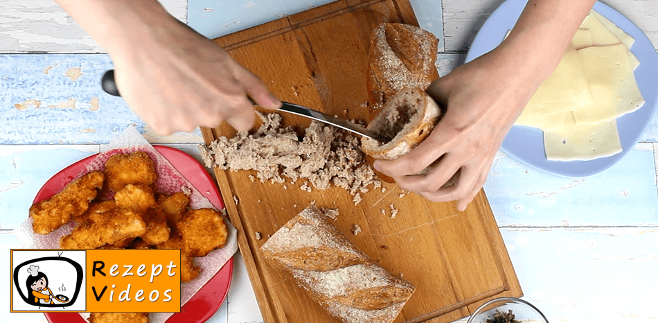 Gefülltes Knoblauchbaguette Rezept Zubereitung - Schritt 3