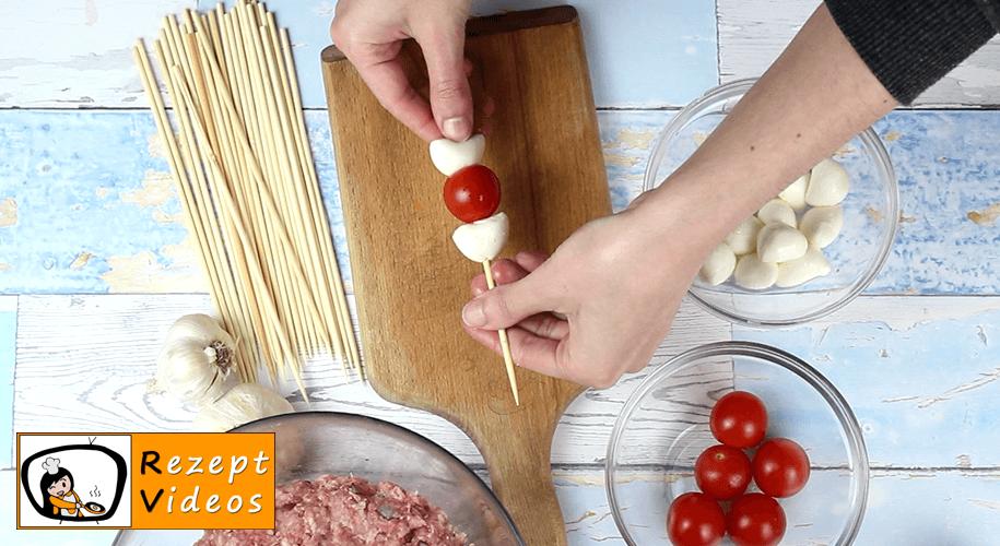 Frikadellen-Schaschlik aus dem Ofen Rezept Zubereitung - Schritt 2