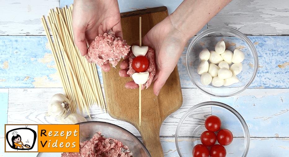 Frikadellen-Schaschlik aus dem Ofen Rezept Zubereitung - Schritt 3