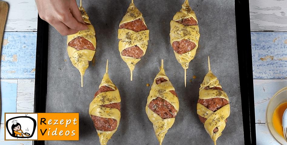 Frikadellen-Schaschlik aus dem Ofen Rezept Zubereitung - Schritt 6