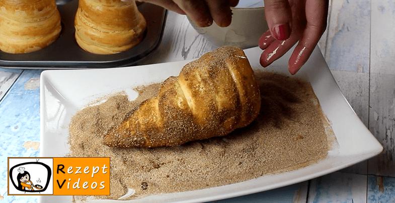 Gefüllte Donut-Eishörnchen Rezept Zubereitung - Schritt 7