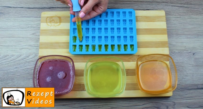 Hausgemachte Sirup-Fruchtgummis Rezept Zubereitung - Schritt 2