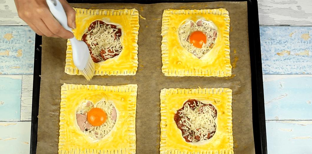Blätterteigkissen Rezept Zubereitung - Schritt 10
