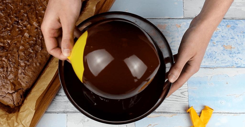 Geschmolzene Schokoladenkugel Rezept Zubereitung - Schritt 1